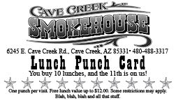 Restaurant lunch punch card