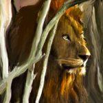 Birmingham Male Lion Digitally Painted