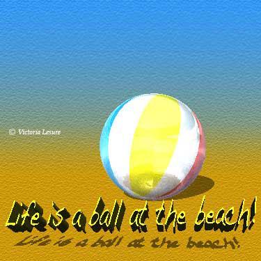 Beach Ball Card