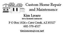 Custom Home Repair Business Card